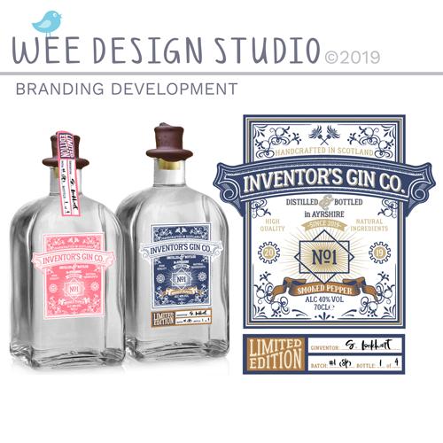 Gin Label branding